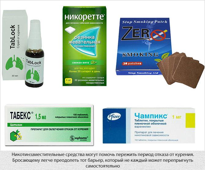 Средства никотиновой заместительной терапии