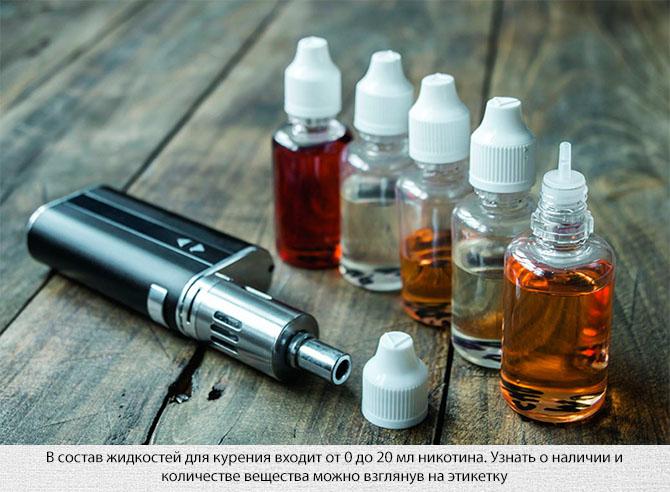 Электронная сигарета и жидкость для заправки